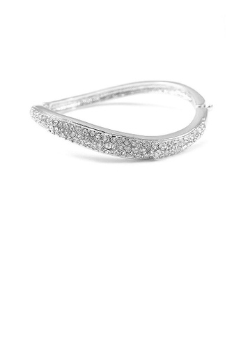 Glamorousky silver Elegant Bangle with Silver Austrian Element Crystal 2288EAC89295E8GS_1
