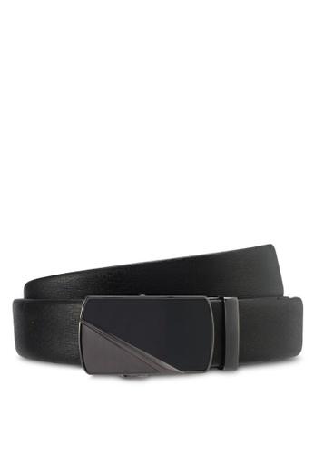 UniqTee black Classic Genuine Leather Belt UN097AC0SYSOMY_1