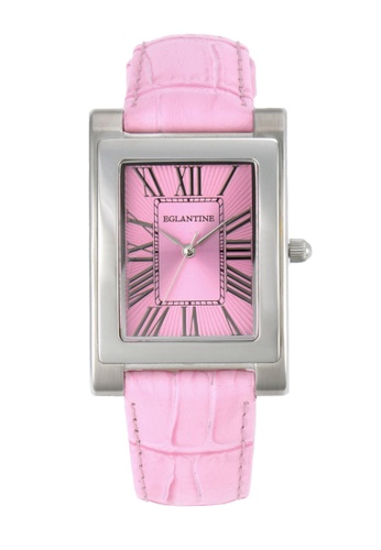 EGLANTINE pink EGLANTINE® Lily Ladies Steel Ladies Quartz Watch Pink Dial and Leather Strap 458DEACBC45F68GS_1