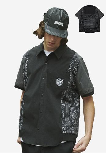 FILA black FILA x White Mountaineering Ethnic Print Pocket Shirt 6257CAA389D312GS_1