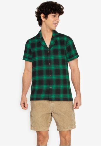 ZALORA BASICS multi Checkered Bowling Shirt 444F8AA4A7124AGS_1