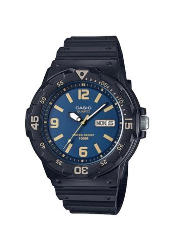 Casio black Casio Men's Analog MRW-200H-2B3VDF Black Resin Band Casual Watch 6026EACC0946CEGS_1