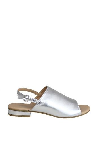 London Rag 褐色 London Rag 女士银色露趾平底凉鞋 AF42BSHD75AAFAGS_1