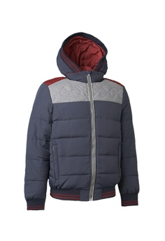 9577ab1fea9f Universal Traveller blue COLOR BLOCKING BOMBER DOWN JACKET  5759CAA3E14A8FGS 1