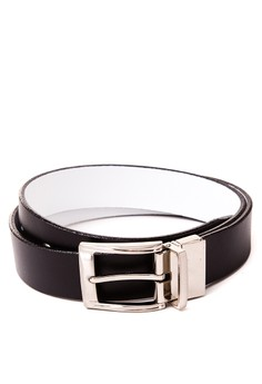 Reverisble Belt with Twisted Buckle