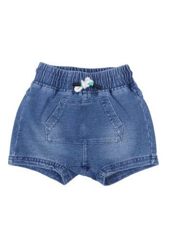 FOX Kids & Baby blue French Terry Drawstring Shorts 67DA0KA75BE859GS_1