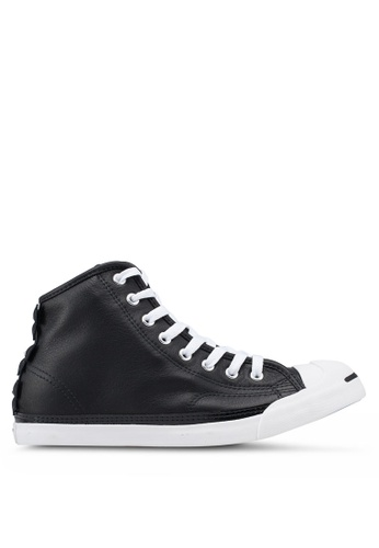 47e20e4bdd6e Converse black Jack Purcell Leather Bows LP L S Mid Sneakers  009BDSH6CBC7A2GS 1