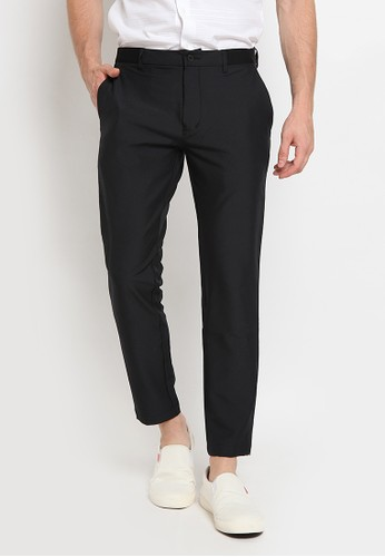 The Executive black Slim Fit Casual Pants DD4E5AA6D6FA4EGS_1