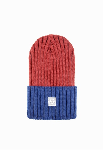 Life8 red and blue Casual Heavy-weight knitted contrast-color hat-05303-Red and blue LI248AC2VNLUHK_1