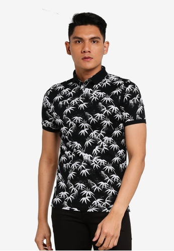 Superdry black Edit Short Sleeve Polo Shirt 4FBDEAA582472DGS_1
