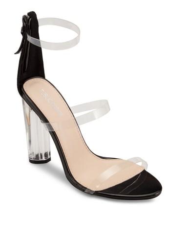 Amari esprit招聘透明繞踝帶高跟鞋, 女鞋, 鞋