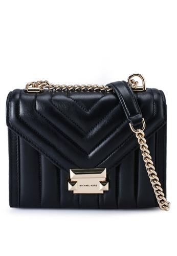 MICHAEL KORS black Whitney Small Leather Shoulder Bag 84C32AC0175473GS_1