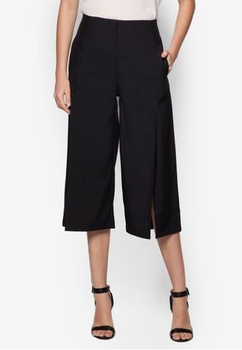 Kylie 前開衩寬管褲,esprit outlet hk 服飾, 服飾