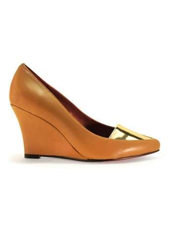 Gripz brown Slim Pointed Toe Wedges GR357SH64IKXSG_1
