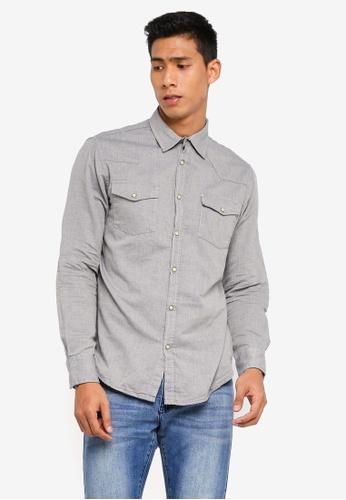 OVS 灰色 長袖休閒襯衫 25F96AAF8C816CGS_1