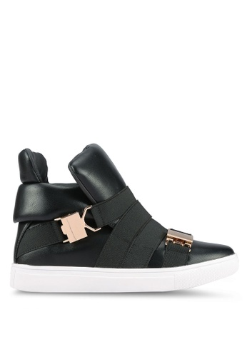 addicts anonymous black Addo Buckle High Cut Sneakers AD479SH0RL61MY_1