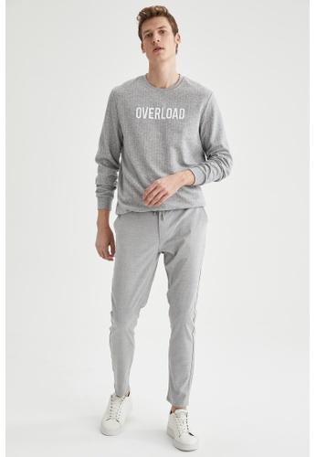 DeFacto grey Man Knitted Sweat Shirt A7609AAE2B38D4GS_1