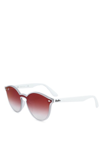 Ray-Ban 白色 RB4380NF Sunglasses 79A9AGLBDA1F6EGS_1