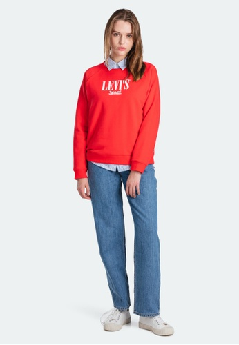 Levi's red Levi's Relaxed Graphic Crewneck Sweatshirt 29717-0090 268ADAA0202E11GS_1