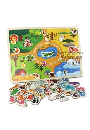 Toylogy multi Mainan Anak Puzzle Kayu Papan Magnet Hewan Magnetic Wooden Animal B8C7ATH5ABABE4GS_1