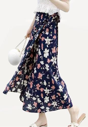 Twenty Eight Shoes navy VANSA Floral One-piece Skirt VCW-Sk8.F F320EAA92439FEGS_1