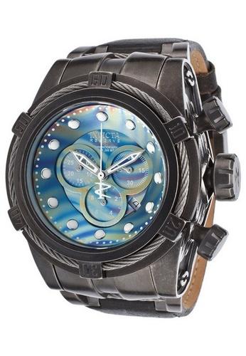 INVICTA grey Invicta Bolt Men 53mm Case Black Leather Strap Grey, Rainbow Dial Quartz Watch 15969 IN968AC0F5DNSG_1