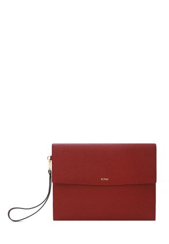 BONIA red Maroon Betsy Mini iPad Pouch 4B72CAC5D46107GS_1