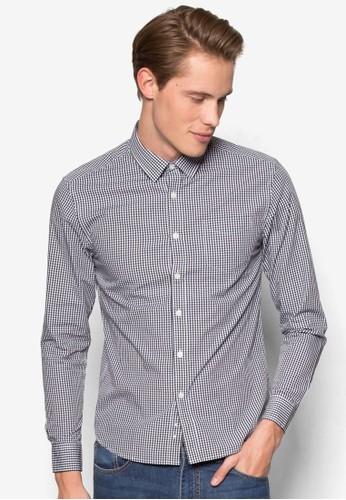 格紋長袖襯衫, 服飾,京站 esprit 襯衫