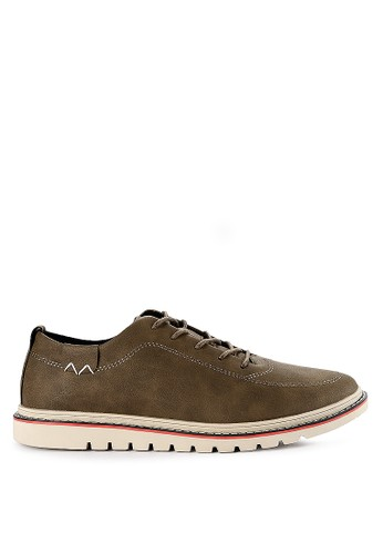 Urban State brown Lace Up Flat Sporty Derby Shoes 8B894SH5B14743GS_1