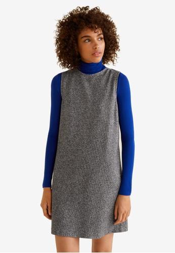 Mango grey Flecked Jersey Dress C7288AA63DA772GS_1