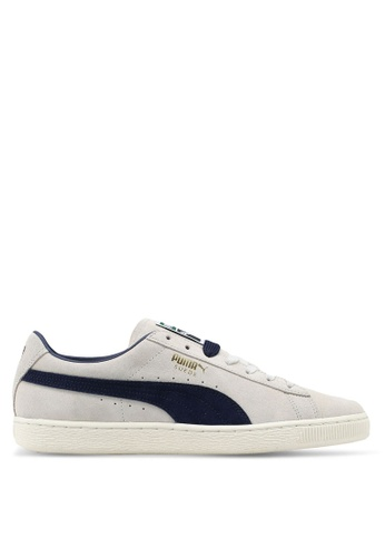 Puma beige and navy Suede Classic Archive Sneakers PU549SH0SWF2MY_1