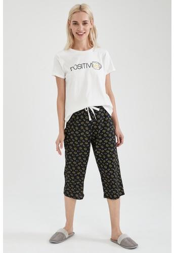 DeFacto black Woman 2-pieces Homewear Top & Bottom Set D0542AA09274C0GS_1