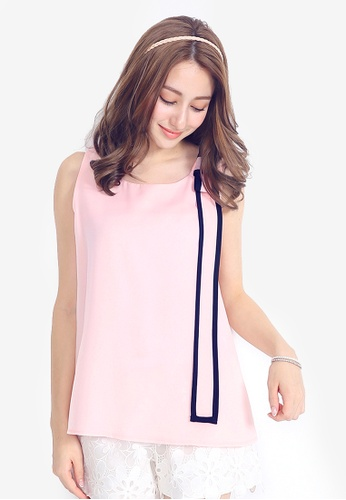 Yoco pink Sleeveless Top with Bow Detail BD552AAC64B3C5GS_1