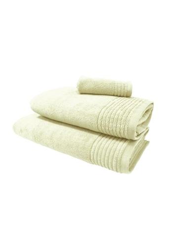 HOOGA white Hooga Bath Towel Chloe (Bundle of 2) FD214HLB4EFCD7GS_1