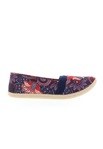 Beira Rio blue and multi Multi Floral Print Slip On Espadrilles BE995SH15ZSUHK_1