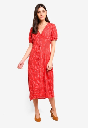 0b1d7c60de Buy Vero Moda Mineral V Neck Midi Dress