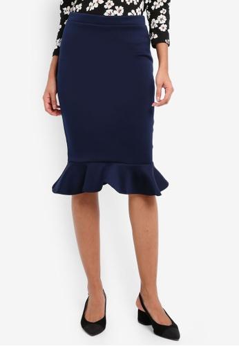 Dorothy Perkins navy Cny: Navy Pephem Pencil Skirt DO816AA0SKS8MY_1