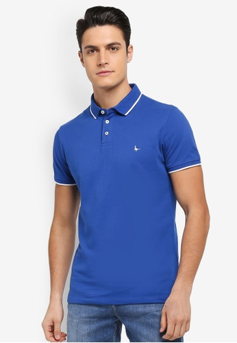 Jack Wills blue Edgware Tipped Polo Shirt CB0A3AA5D58ED3GS_1