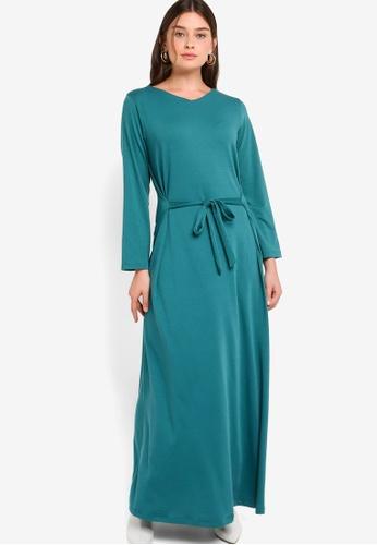 ZALIA BASICS 綠色 Tie On Dress 35573AA5D892EEGS_1