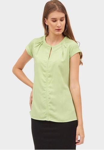 Chanira green Ksena Blouse E1BA3AA94CFDFCGS_1