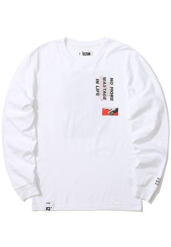 izzue white Graphic logo sweatshirt 2A125AA0E656A6GS_1