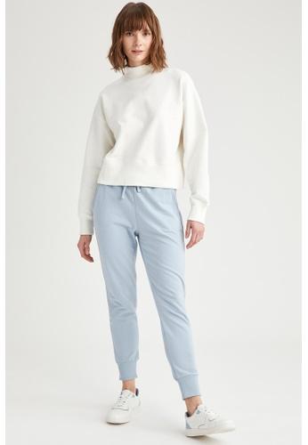 DeFacto blue Woman Knitted Trouser D7846AAA0B15E1GS_1