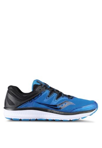 Saucony black and blue Guide ISO Running Shoes SA304SH0SW58MY_1