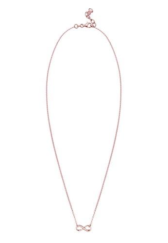 無限 925 純銀鍍玫瑰金項鍊, 飾品配esprit 寢具件, 項鍊