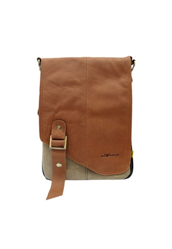 EXTREME brown Extreme Leather Sling Bag 99D17AC04860D9GS_1