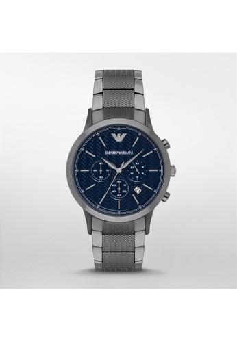 Emporio Armani RENATO經典時尚系列腕錶 AR2505, esprit台灣門市錶類, 時尚型