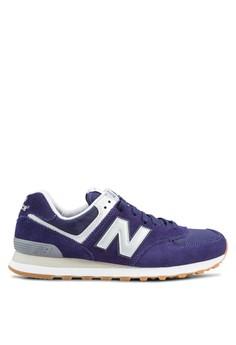 new balance blue. new balance blue 574 lifestyle sneakers ne382sh38ahdid_1
