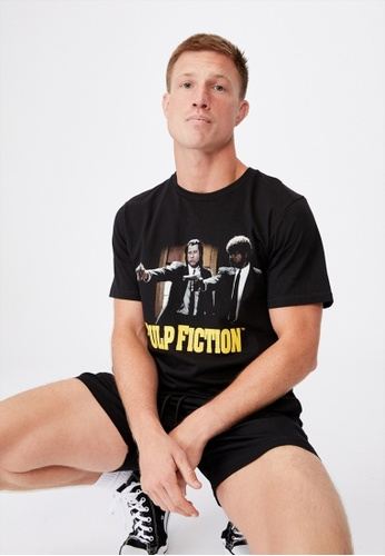 Cotton On black Tbar Collab Movie And Tv T-Shirt 2E6C9AA78EE41FGS_1