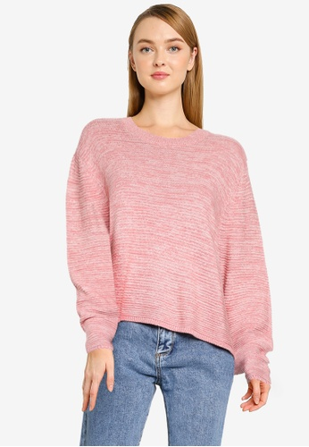 Cotton On pink Cotton Cropped Pullover D8DDBAA657FC81GS_1