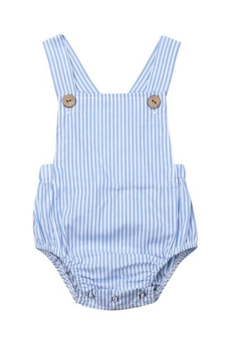 RAISING LITTLE blue Jone Romper - Blue Stripes 6D781KA575AFB6GS_1